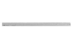 Měřítko s úkosem, NEREZ OCEL 1500mm, KINEX, DIN866/B