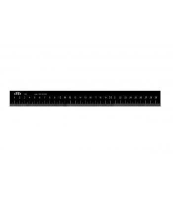 Měřítko Light ploché nemagnetické KINEX BLACK COAT, začátek v nule, 1000mm