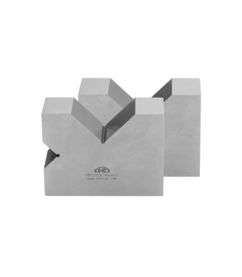 Kontrolní a rýsovací podložka s výřezy KINEX, pár, 2x90°, 140 mm, ČSN255532