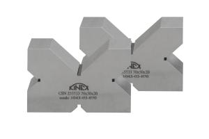 Kontrolní a rýsovací podložka s výřezy KINEX, pár, 4x90°, 70 mm, ČSN255533