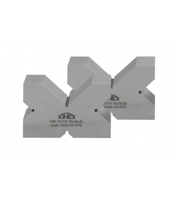 Kontrolní a rýsovací podložka s výřezy KINEX, pár, 4x90°, 200 mm, ČSN255533