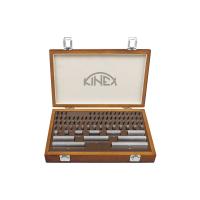 Základní ocelové měrky KINEX, 103ks, tř. přesnosti 0, DIN861