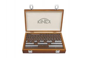 Základní ocelové měrky KINEX, 38ks, tř. přesnosti 0, DIN861