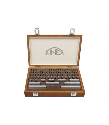 Základní ocelové měrky KINEX, 122ks, tř. přesnosti 1, DIN861