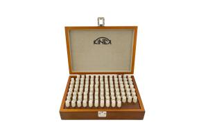 Válečkové měrky ocelové KINEX - sada 0,3-1,0/0,01 mm, 71 ks