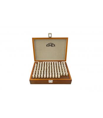 Válečkové měrky ocelové KINEX - sada 8,01-9,0/0,01 mm, 100 ks