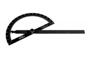 Úhloměr obloukový KINEX BLACK COAT 180°, 120x200mm