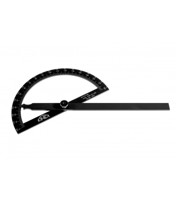 Úhloměr obloukový KINEX BLACK COAT 180°, 120x200 mm
