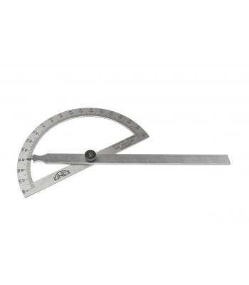 Úhloměr obloukový KINEX, NEREZ, 0-180°, 250x400 mm
