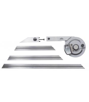 Úhloměr s lupou + 4 pravítka 0-360° KINEX