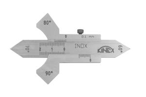 Měrka koutových svarů KINEX - 60°, 70°, 80°, 90°