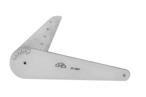 Měrka na kontrolu zbroušení vrtáku KINEX