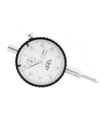 Úchylkoměr číselníkový KINEX 0-10 mm/60 mm/0,01 mm, ISO46325, ČSN251811, ČSN251816