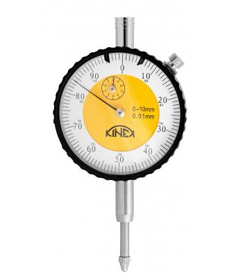 Úchylkoměr číselníkový KINEX 0-10 mm/60 mm/0,01 mm - TOP QUALITY, ČSN251811