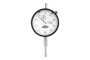 Úchylkoměr číselníkový KINEX 0-10mm/60mm/0,01mm - s uchycením, ČSN251820