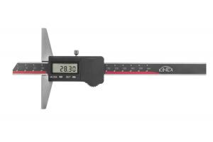 Hloubkoměr digitální bez nosu KINEX, 150 mm/0,01, DIN862, IP67
