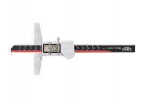 Hloubkoměr digitální s nosem KINEX 300mm/0,01, DIN862