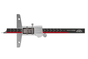 Hloubkoměr digitální bez nosu, kulatá jehla KINEX 150 mm, 0,01, DIN862