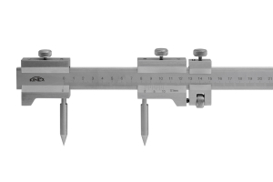 Kružidlo ploché smm dělením a jemným stavěním KINEX 500/0,1mm, DIN862