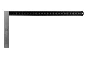 Úhelník tesařský s mm dělením KINEX BLACK COAT 750x375 mm