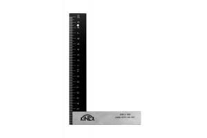 Úhelník s mm dělením KINEX BLACK COAT 200x130 mm, hliník/ocel