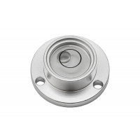 Circular vial with mounting holes - silver anodized