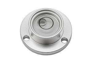 Kruhová libela KINEX s upevňovacími otvory pr.20 - stříbrná, hliník