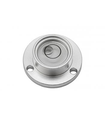 Kruhová libela KINEX s upevňovacími otvory pr.20mm - stříbrná, hliník