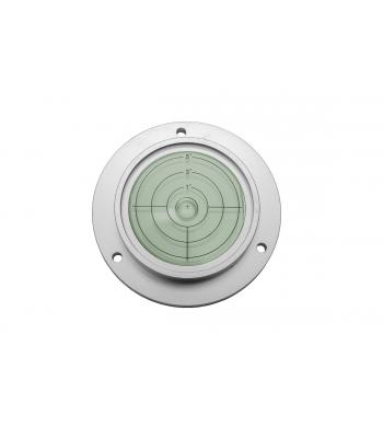 Kruhová libela KINEX s upevňovacími otvory ⌀75 - stříbrná, hliník