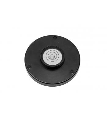 Kruhová libela KINEX s upevňovacími otvory pr.35mm - černá, hliník