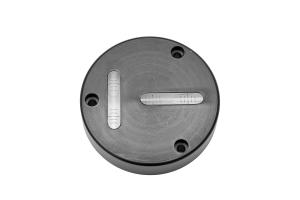 Kruhová libela KINEX s upevňovacími otvory pr.80mm - černá, hliník