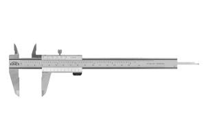 Posuvné měřítko s hloubkoměrem KINEX 150mm, 0,02mm, aretace šroubkem, paralelní vedení, monoblok, TOP QUALITY, DIN862