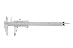 Posuvné měřítko KINEX 150 mm, 0,05 mm, aretace šroubkem, mm+inch, ČSN251238, DIN862