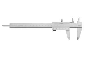 Posuvné měřítko KINEX 150mm, 0,02mm, 40mm, paralelní vedení - PRO LEVÁKY, DIN862