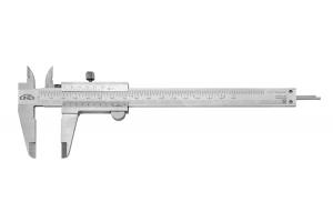 Posuvné měřítko KINEX 150 mm, 0,02 mm, aretace šroubkem, mm+inch, ČSN251238, DIN862