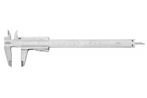 Posuvné měřítko KINEX 160 mm, 0,05 mm, aretace tlačítkem, mm+inch, monoblok, ČSN251238, DIN862