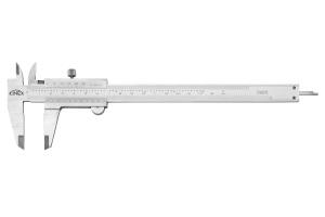 Posuvné měřítko KINEX 160 mm, 0,02 mm, aretace šroubkem, mm+inch, monoblok, ČSN251238, DIN862