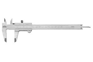 Posuvné měřítko KINEX 160 mm, 0,05 mm, aretace šroubkem, mm+inch, monoblok, ČSN251238, DIN862