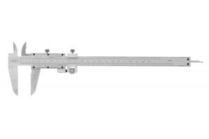Posuvné měřítko s vnitřním měřením a hloubkoměrem KINEX 200 mm, 0,05 + 1/128 inch, jemné stavění, DIN862