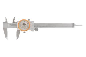 Posuvné měřítko s číselníkovým úchylkoměrem KINEX 150mm, 0,02mm, nárazuvzdorný, ČSN251235, DIN862