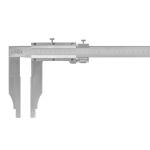 Posuvné měřítko s jemným stavěním KINEX 2000 mm, 200 mm, 0,02 mm, DIN862