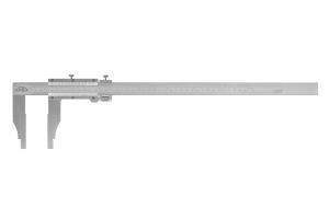Posuvné měřítko se stupnicímm a inch KINEX 500mm, 0,05+1/128inch, 125mm, ČSN251231