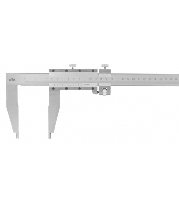 Posuvné měřítko KINEX 800 mm, 0,05 mm, 200 mm, jemné stavění, šroubovací nonius ČSN251231, DIN862