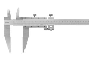 Posuvné měřítko s jemným stavěním KINEX 1500 mm, 200 mm, 0,05 mm, s horními noži, ČSN251231, DIN862