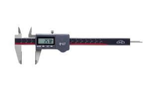 Digitální posuvné měřítko KINEX 150mm - IP67, tvrdokov (plochy slinutý karbid), DIN 862