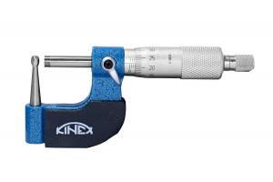 Mikrometr na trubky KINEX 0-25 mm, 0.01mm