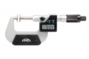 Digitální mikrometr na ozubená kola KINEX 0-25mm/0.001mm, DIN863