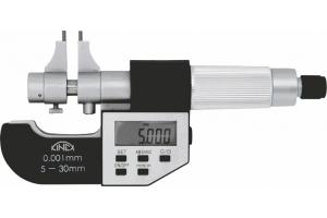 Digitální mikrometr dutinový dvoudotekový (dutinoměr) KINEX 75-100 mm/0.001mm, DIN863