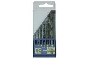 Sada vrtáků 6 dílná (2;3;4;5;6;8mm) RNHSS pasivovaná, plastový box (SV1121RNHSS-6P)