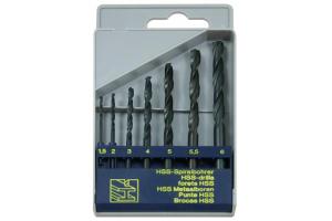 Sada vrtáků 7 dílná (1,5;2;3;4;5;5,5;6mm) RNHSS pasivovaná, plastový box (SV1121RNHSS-7P)